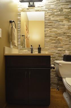 Powder room bathroom remodel