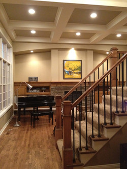 Coffered Ceiling Living Room