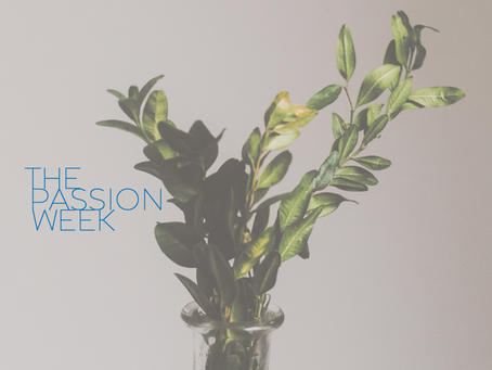 The Passion Week ~ Monday