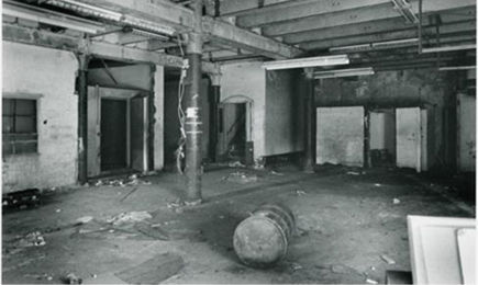 Penn Brewhouse prior to its restoration in the late 1980s