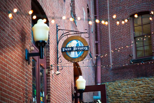 The Biergarten Penn Brewery Sign