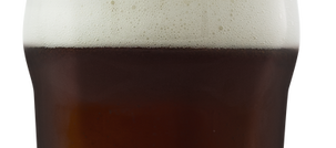 Top of a glass of dark beer