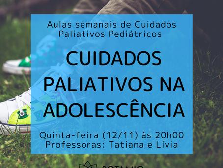 Cuidados Paliativos na adolescência