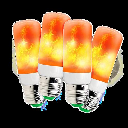Foco Flama Led Efecto De Fuego En Movimiento 3w 4 Piezas