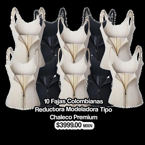 10 Fajas Colombianas Reductora Modeladora Tipo Chaleco Premium