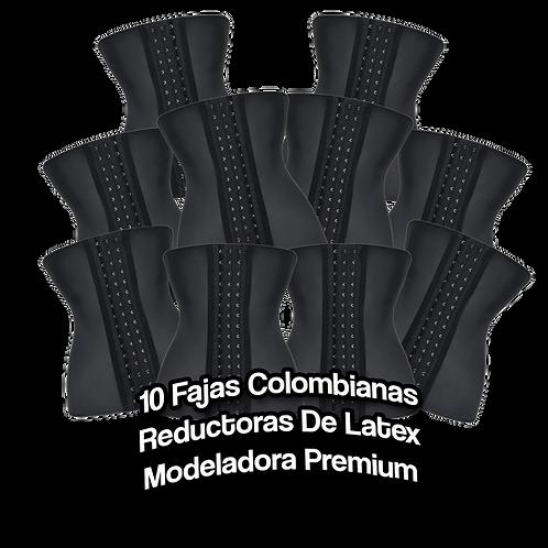 10  Fajas Colombianas Reductoras De Latex Modeladora Premium