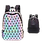 Thumbnail: Mochila Tornasol Geometrica Luminosa Unisex Escolar Versatil