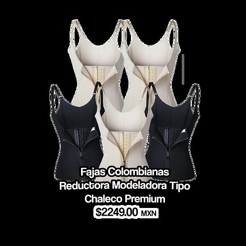 5 Fajas Colombianas Reductora Modeladora Tipo Chaleco Premium