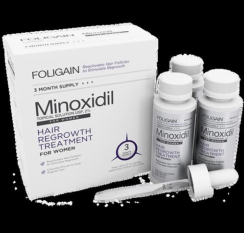 Minoxidil 2% Tratamiento 3 meses para Mujeres