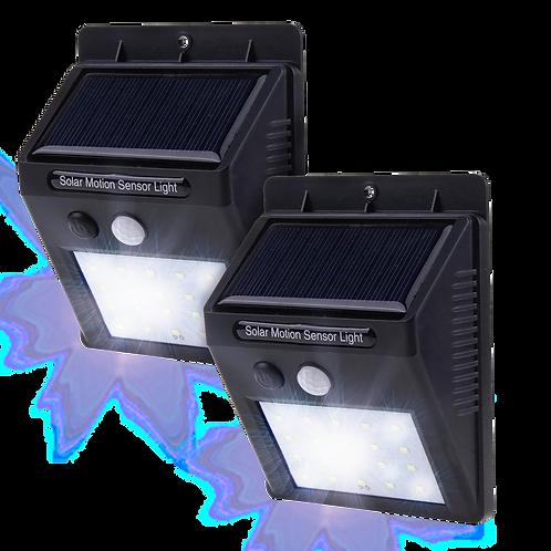 2 Lamparas Solares Exterior Con Sensor De Movimiento Y 3 Funciones