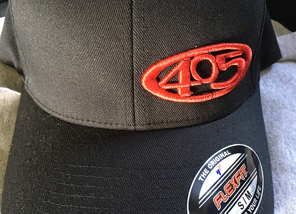 The 405 Red on Black BBV hat