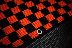 JDM Checkered Floor Mats with Anchor