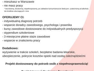 Przez integrację do zatrudnienia - nowy projekt w Fundacji Sławek!