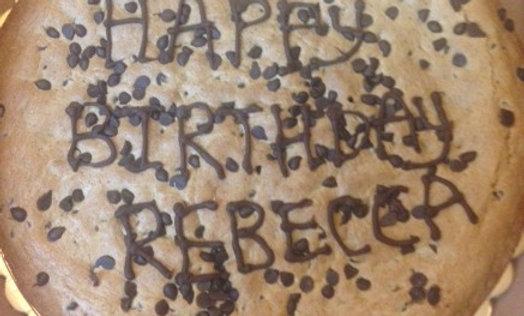 """Me Like Cookie""-Giant Chocolate Chip Cookie Cake"