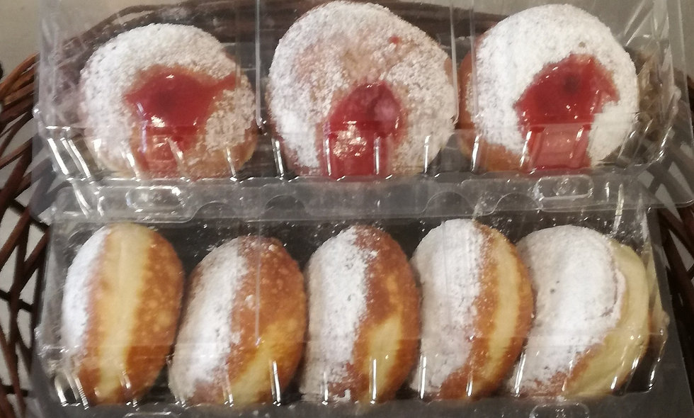 Sufganiyot!-Box of 5 Doughnuts