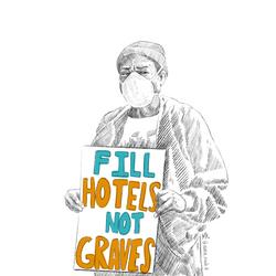 Fill hotels, not graves