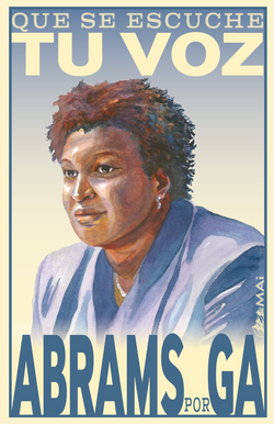 Stacey Abrams Campaign Poster
