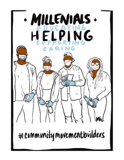 Millennials helping