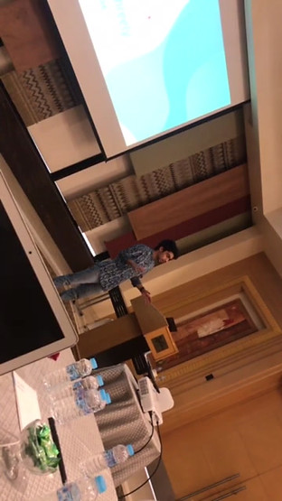 Me speaking about Threely at Fintech Innovatives event