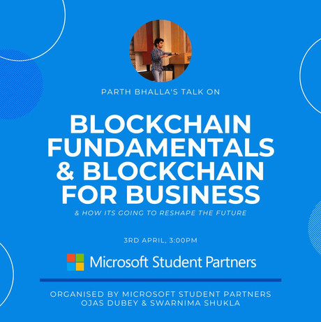 My talk about blockchain at Microsoft