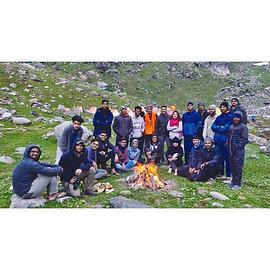 My first trek group at Hampta pass!