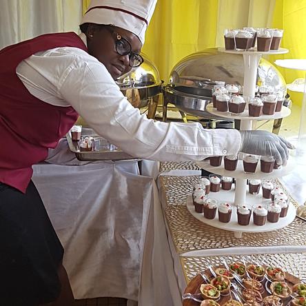 Repas à l' Université Catholique de Yaoundé