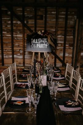 Tablescape set up