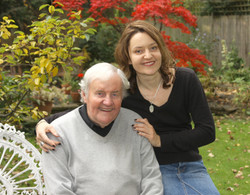 Richard Briers and Lucy Briers