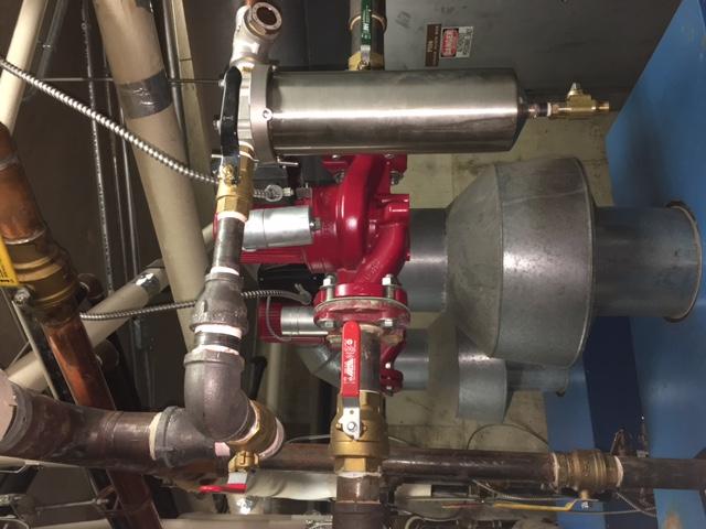 Plumbing pump installation