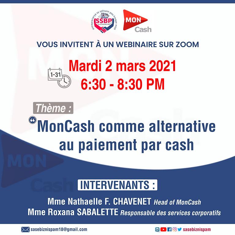 Présentation de MonCash comme alternative au paiement par cash