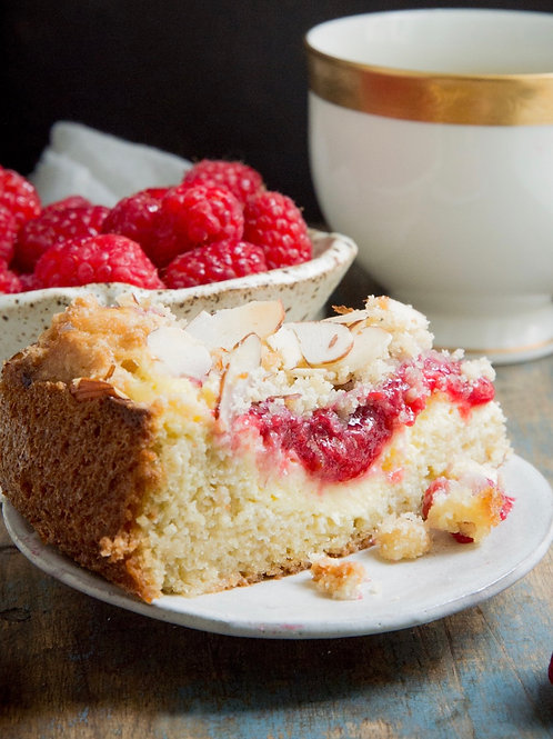 Keto raspberry coffee cake - 2