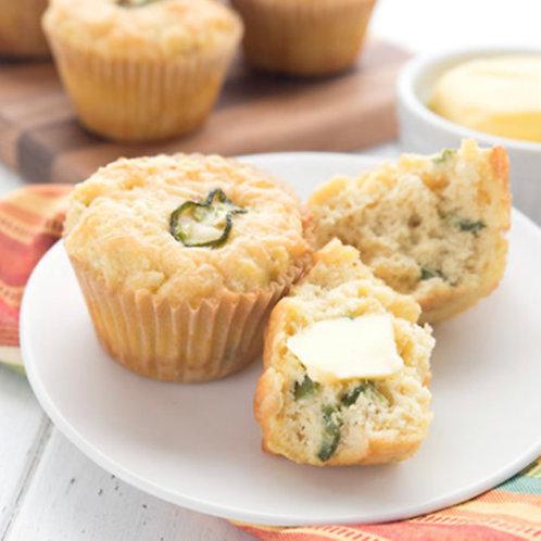 Cheddar jalapeño muffins - 4