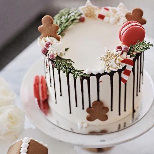 "Holiday Drip Cake 6"""