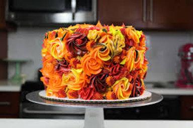 """6"""" Thanksgiving rosette cake serves 10-12"""