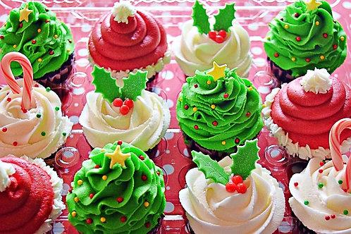 Christmas Cupcakes - single flavor baker's choice dozen 12/23