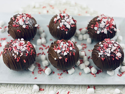 Peppermint Hot Cocoa Bombs