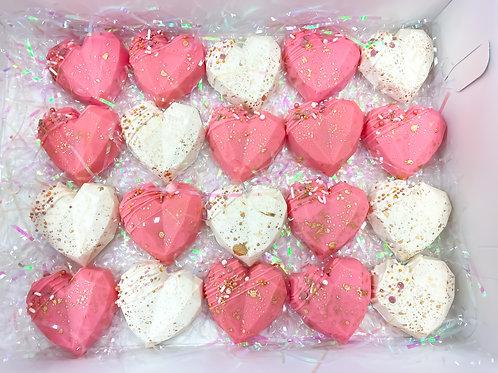 Valentine's Cake pop hearts