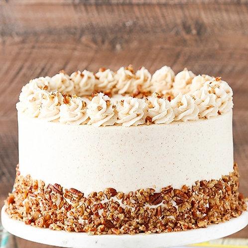 "6"" Cinnamon Pecan Cake serves 10-12"