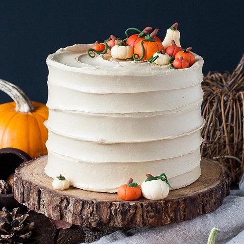 "6"" Fall textured cake serves 10-12"
