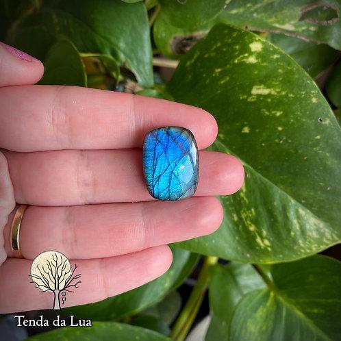 LB112 - Labradorita Azul Retangular - 2,2cm x 1,7cm