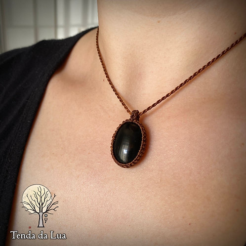 Colar básico com Obsidiana Negra
