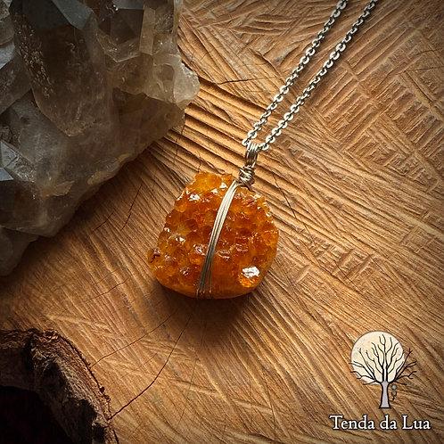 Amuleto com Ametista Queimada