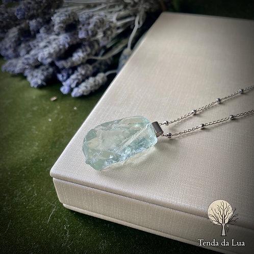 Colar Amuleto com Prasiolita (Ametista Verde)