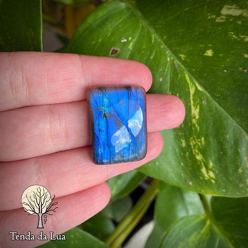 LB95 - Labradorita Azul Retangular - 2,8cm x 2,1cm