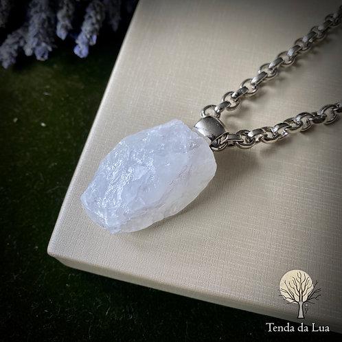 Colar Amuleto com Cristal de Quartzo