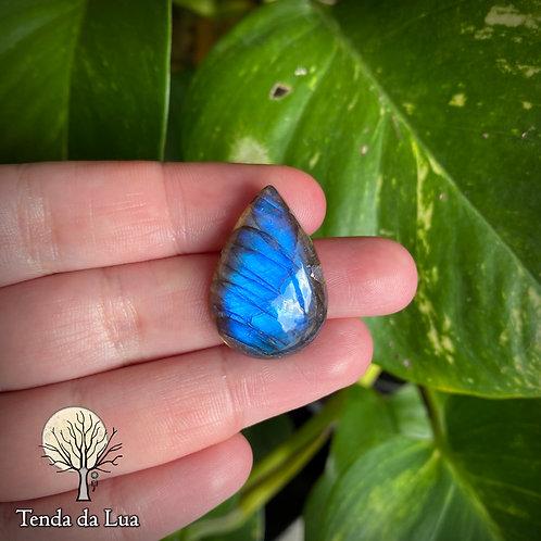 LB90 - Labradorita Azul Gota - 2,7cm x 1,9cm