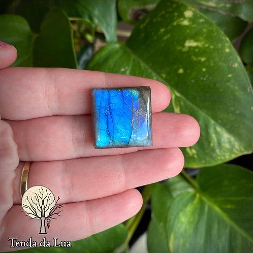 LB107 - Labradorita Azul Quadrada - 2,3cm x 2,3cm