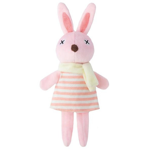 Animal Plush Toy/Rabbit/Pink Stripe