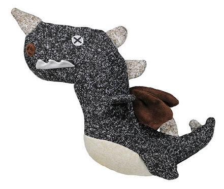 Animal Plush Toy / M  /Dino / Black