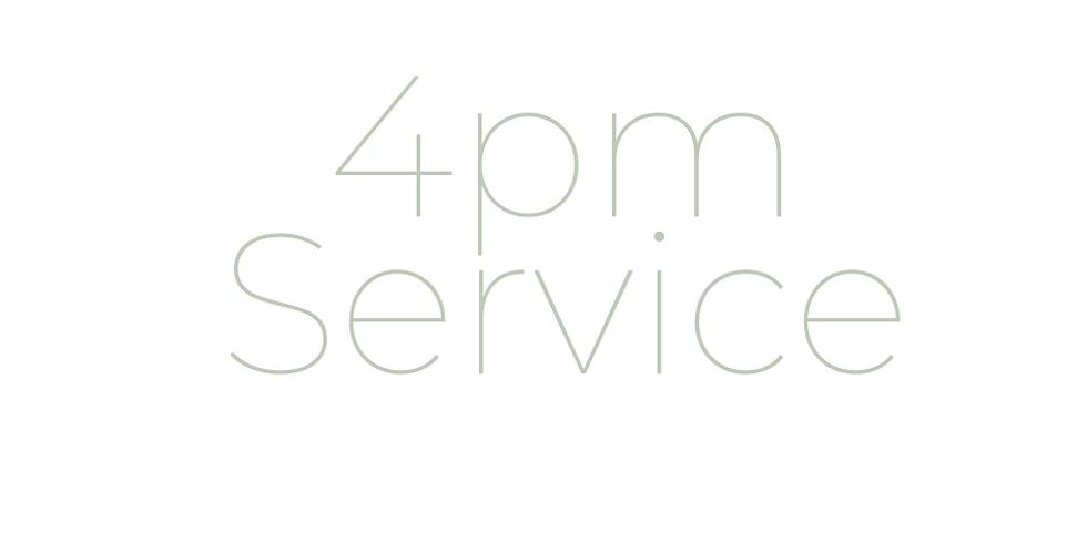October 25th Sunday Service Registration 4pm
